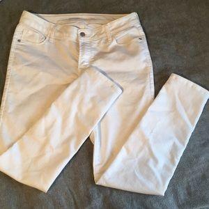 Old Navy Rockstar White Jeans